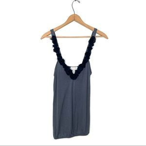 Kimchi & Blue | Gray And Blue Tank Top